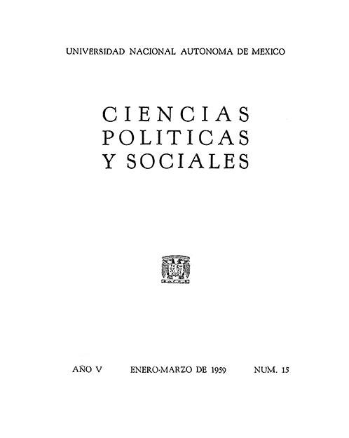 Morfología de la Escuela Nacional de Ciencias Políticas y Sociales