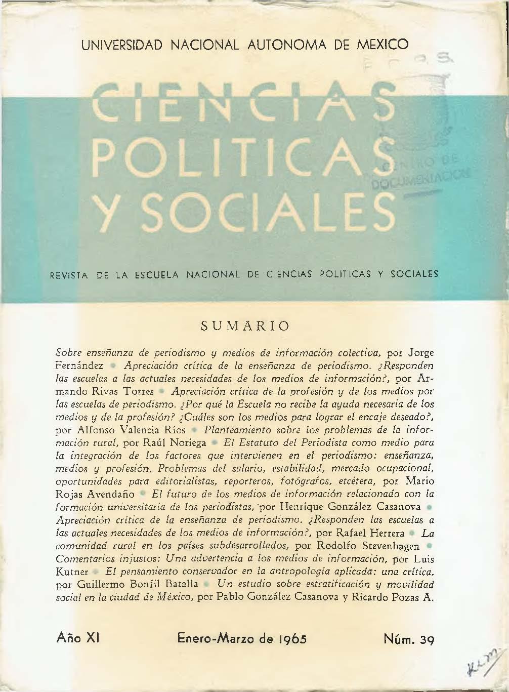 Sobre Enseñanza De Periodismo Y Medios De Información Colectiva