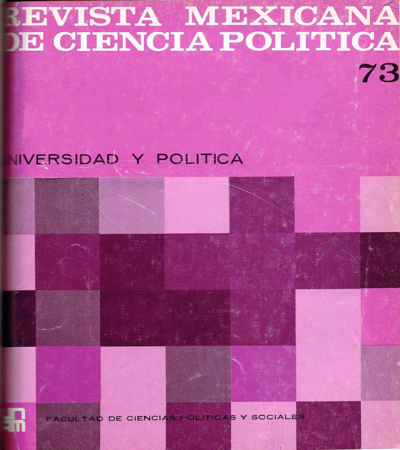 Problemas universitarios y política nacional